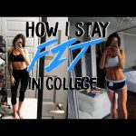 HOW I STAY FIT IN COLLEGE & Got in the Best Shape of my Life
